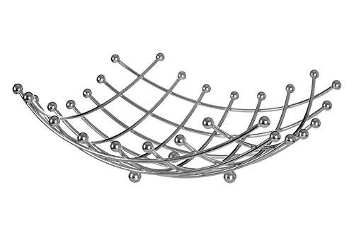 Premier Housewares - Frutero, diseño de celosía, Cromado