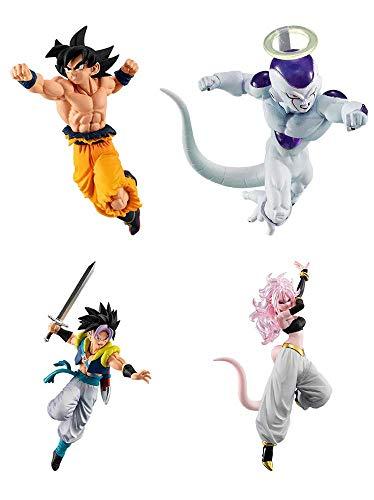 Dragon Dragonball Komplett-Set 4 Figuren Ball Versus Battle Figures Series 10 Bandai Gashapon Gohanks Xeno Evil Majin Cyborg 21 Goku Freezer (Cyborg Freezer)
