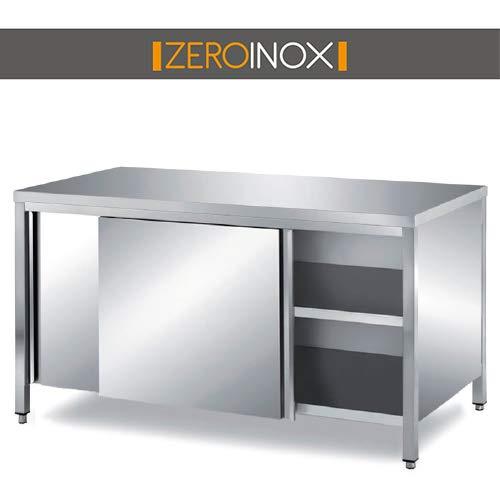 ZeroInox Mesa armadiato con Puertas correderas – Profundidad ...