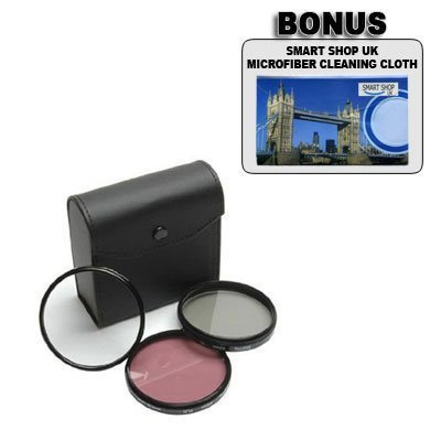 Canon PowerShot G1, G2, G3 - 52mm High-Resolution-3-Stück-Filter-Set (UV, Fluoreszenz, Polfilter) Hochauflösend (kein Canon Produkt)
