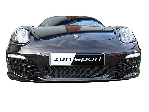 Porsche Boxster 981 - Ensemble calandre avant (avec capteurs de stationnement) - Finition argent (2012 onwards)
