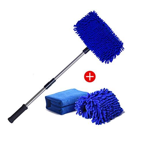 RUIX Autowaschbürste Langer Griff Einziehbar/Baumwolle / Reinigungsmopp/Autowaschzubehör