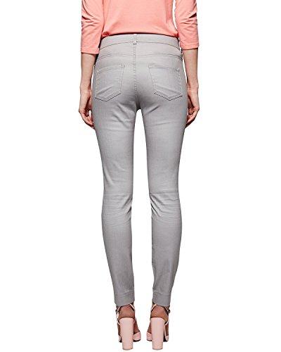 Comma Damen Straight Leg Jeanshose 81.503.76.1284 Grau (grey 9107)