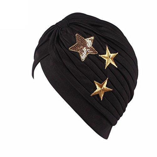 DOGZI Femmes Étoiles Cancer Chemo Chapeau Beanie Écharpe Turban Head Wrap Cap