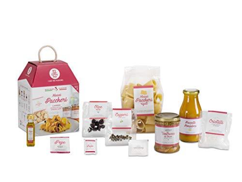Mezzi paccheri campani con pomodoro giallo e ventresca di tonno my cooking box x2 porzioni - idea regalo natale 2019