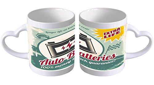 Leotie GmbH Tazza Ceramica Garage Batteria Auto Longlife Cuo