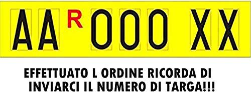 ShopAccessori Lettere adesive per Targa ripetitrice Serie Alfanumerica (4 Lettere + 3 Numeri) a Scelta