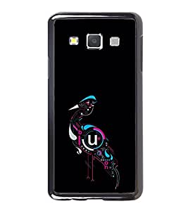 Fuson Designer Back Case Cover for Samsung Galaxy A5 (2015) :: Samsung Galaxy A5 Duos (2015) :: Samsung Galaxy A5 A500F A500Fu A500M A500Y A500Yz A500F1/A500K/A500S A500Fq A500F/Ds A500G/Ds A500H/Ds A500M/Ds A5000 (Bird Swan Animated Swan Mechanical Swan Symbolic)