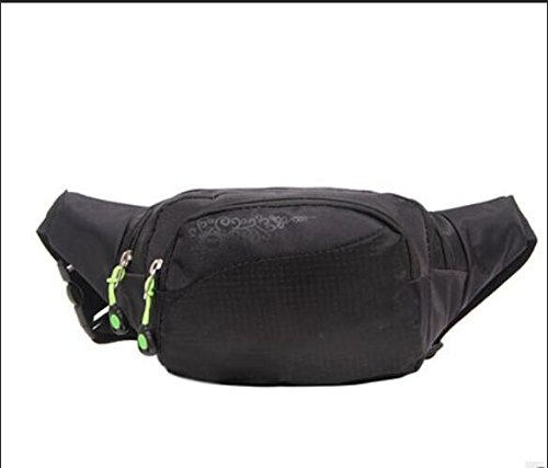 ZYT Taschen Taschen Männer und Frauen Handy Pakete Freizeit Radfahren Taschen Nylon grün Sportpaket Black