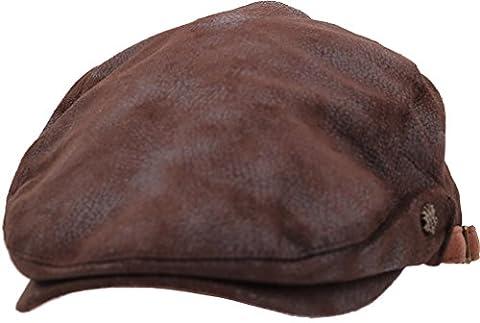 sujii UNCLE SAM Newsboy béret Flat Cap casquette plate Cabbie Hat chapeau de chauffeur Golfer Cap chapeau de golf casquette souple Hunter Cap chapeau de chasseur, XL size/Dark