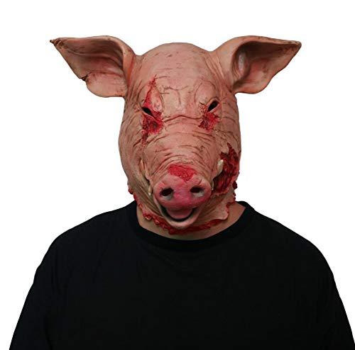 (Halloween Horror Schwein Kopf Maske Latex Tier Requisiten Gruselig Cosplay Maskerade Party Faulen Blutigen Kind Erwachsene)