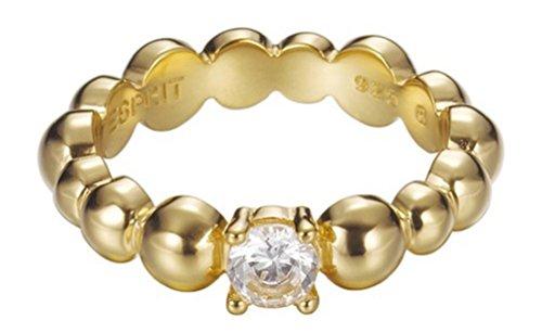 Esprit Jewels Damen-Ring 925 Sterling Silber Solo pellet gold Gr. 57 (18.1) ESRG92321B180