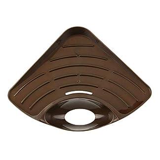 41v%2BVtctVXL. SS324  - iUcar Hogar Fregadero de la Cocina en la Esquina Estante de Almacenamiento Organizador de Soporte de Esponja de Color sólido (café)