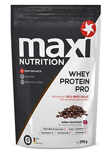 MaxiNutrition Whey Protein Pro Kaffee - Eiweißpulver für den Muskelaufbau nach dem Training - 1 x 390 g Packung Protein Shake mit Kaffee Geschmack