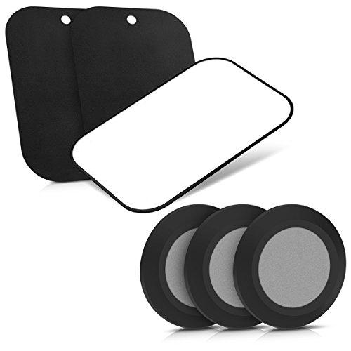 kwmobile 6in1 Set Magnet Spots - 3x Magnetpunkte Klebespots 3x Magnetplatten - Magnetischer Schlüsselhalter Smartphone Halter - Einfache Installation ohne Bohren - Schwarz (Punkt-magnete)