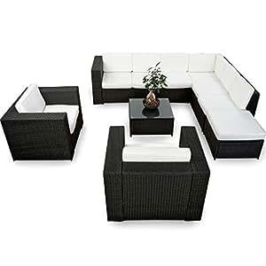 xinro xxxl 25tlg polyrattan gartenm bel lounge m bel g nstig 2x 1er lounge. Black Bedroom Furniture Sets. Home Design Ideas