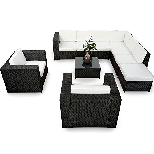 Polyrattan Gartenmöbel Lounge Möbel Günstig + 2x (1er) Lounge Sessel ...