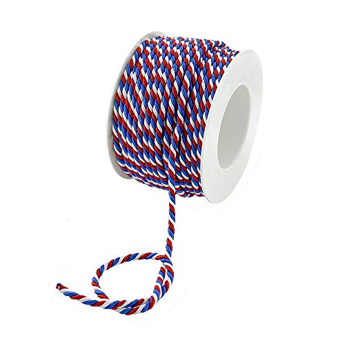 TGG Kordel 3-farbig, Frankreich NL blau-weiß-rot, Profispule !!! (4mm/ 25 Meter)