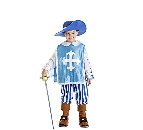 Imagen de disfraz de mosquetero azul para niño