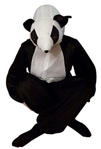 Panda-Kostüm, An75 Gr. M-L, Panda-Bär Karnevalskostüm für Männer und Frauen, Panda-Kostüme für Fasching Karneval, Pandas als Karnevals- Fasnachts-Kostüm, Tier-Kostüme Faschings-Kostüme Erwachsene (Panda Kostüm Männer)