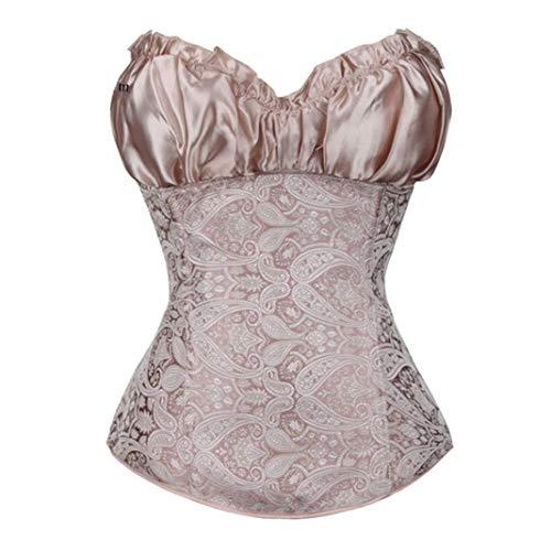Damen Renaissance Lace Up BH Bustier ohne Knochen Side Zip Sexy Dessous Hochzeit Braut Korsett