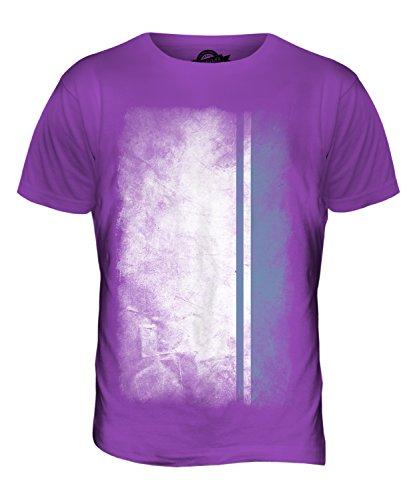 CandyMix Republik Altai Verblichen Flagge Herren T Shirt Violett