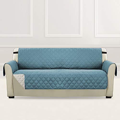 H.versailtex copridivano 3 posti impermeabile divano protector mobili coperture su due lati per cani/gatti letto con divano slipcovers 190 x 167cm, pietra blu