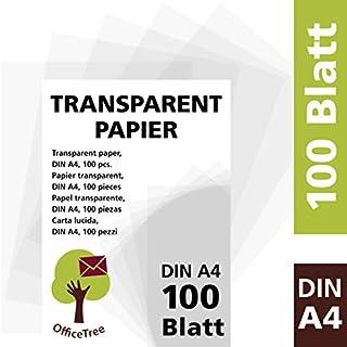 30 Blatt Herlitz Transparentpapier DIN A4