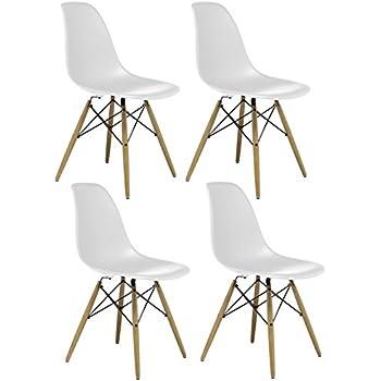 Charles U0026 Ray Inspiriert Eiffelturm Retro Design Wood Style Stuhl Für Büro  Lounge Küche U2013 Weiß