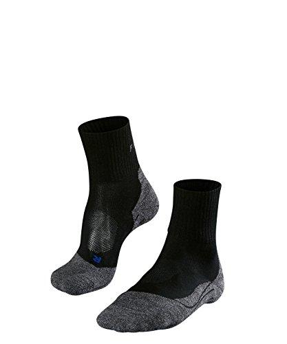 Falke TK2 Short Cool Chaussettes Courtes de Trekking Homme, Black/Mix, FR : S (Taille Fabricant : 39-41)