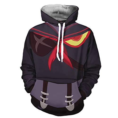 IDEALcos Halloween Jungen Kampfanzug Ryuko Matoi Hooded Sweatshirt Outfit Cosplay Kostüm (XXL, Schokolade 2) (Ryuko Cosplay Kostüm)