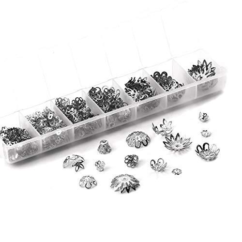 Obling 290 Pièces Kit de Fabrication Bijoux Calotte pour Bricolage Collier Bracelet