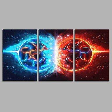 HY&GG Das Lied Von Eis Und Feuer 3 Panels Handgemalte Ölgemälde Auf Leinwand Moderne Kunstwerke An Der Wand Kunst Für Dekoration 20 X 28 Inchx 3 (Innerer Rahmen) (Ein Lied Von Eis Und Feuer Kunst)