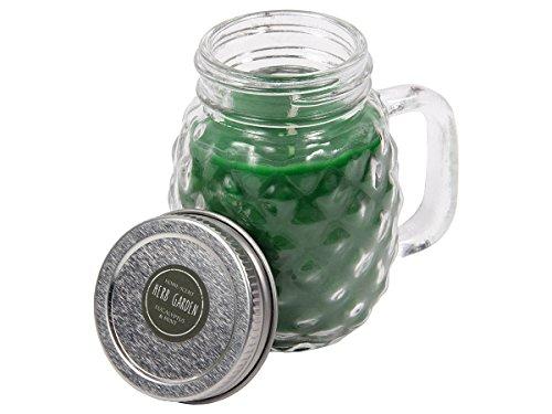 Duftkerze im Glas mit Deckel Eukalyptus Duft Henkelglas Candle Raumduft Kerze Herb Garden mit Drehverschluss Geschenkidee von ALSINO 144028