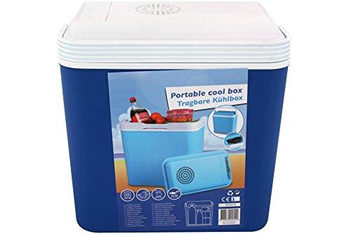 Preisvergleich Produktbild Tragbare Elektrische Kühlbox 12V, 22 L für Auto und Steckdose - Blau, 30x23x40 cm