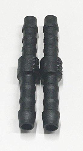 Schlauchverbinder 2x 4mm, gerades Verbindungsstück, Kunststoff, Silikon, PVC