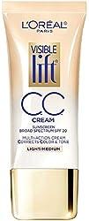Light/Medium : LOreal Paris Visible Lift CC Cream, Light/Medium 1 oz