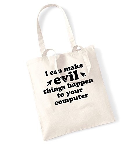 I can make evil things happen to your computer tote bag