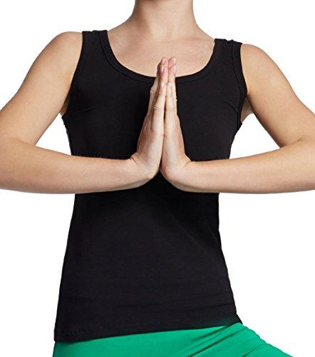 ESPARTO Yoga Tanktop Auron in Bio-Baumwolle Currygelb