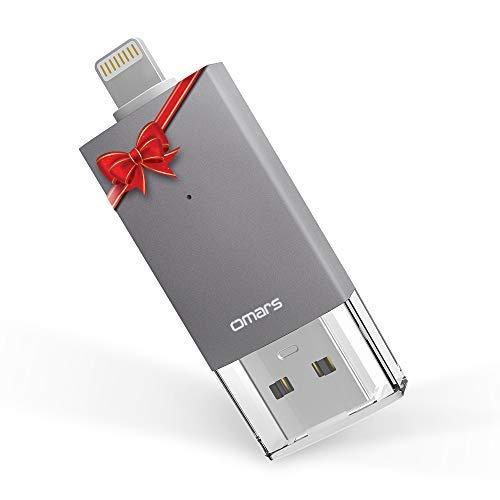 [Apple MFi Zertifiziert] OMARS® Irisation Lightning USB Stick 32GB Flash Speichererweiterung für Apple iPhone iPod iPad Computer Mac Laptop PC
