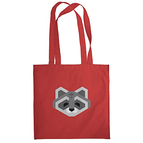 Texlab – Simple Raccoon – sacchetto di stoffa Rot