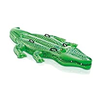 Ndier Inflatable Crocodile Float Pool Raft Gaint Crocodile Shape Pool Float Toy Water Toy for Kids Adults Summer Beach Party Supplies