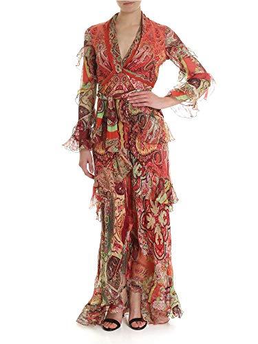 Etro Damen 148874305600 Rot Seide Kleid - Etro Damen Bekleidung