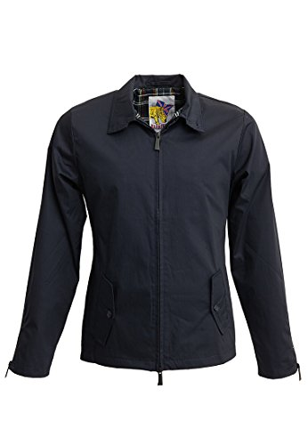 Harrington Herren Jacke Rainjacket Blau - Blau (Marineblau)