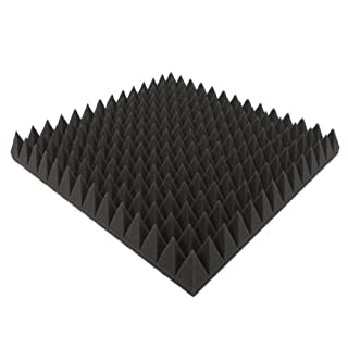 Akustikpur - 1 m ²-Set of 4 Approx. 50 x 50 x 7 cm acoustic foam / acoustic foam pyramids, acoustic insulation / acoustic foam insulation boards, noise protection