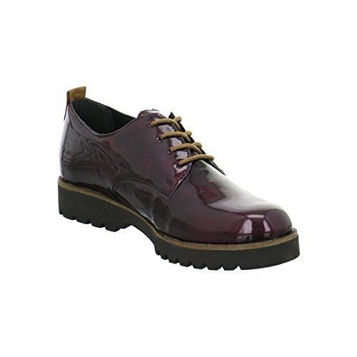 REMONTE - Damen Halbschuhe - Lack Schwarz Schuhe in Übergrößen Dunkelrot