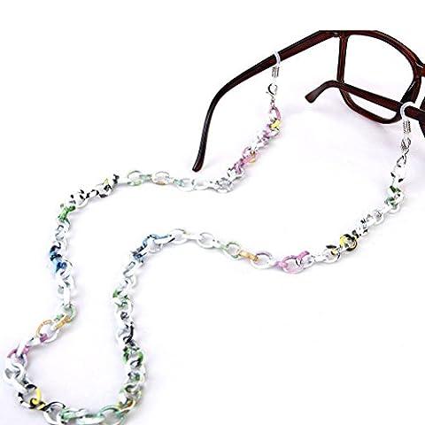 LEORX Brillenkette 70cm Fashion Aluminium rutschfeste Sonnenbrillen Kette Strap Brillenhalter (Multicolor)