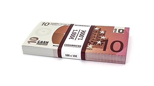 100 x €10 EURO Spielgeld Scheine Cashbricks® im Bündel