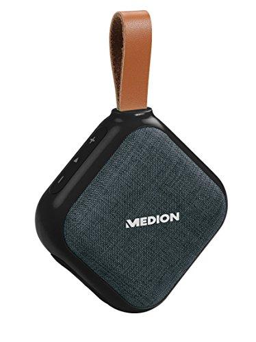 MEDION Life E65242 Bluetooth Lautsprecher (Bluetooth 4.1, Freisprechfunktion, Strahlwasserschutz IPX5, 30 Watt, Akku) Schwarz