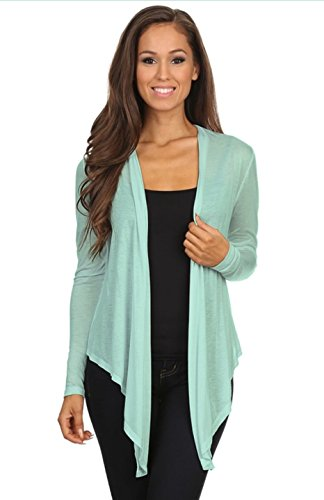 2luv-womens-long-sleeve-open-front-draped-cardigan-sage-l-s9114-special-price